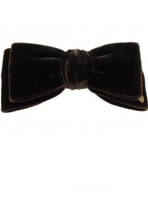 ADP Velour bow barrette
